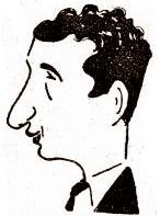 Caricatura del ajedrecista Rafael Doménech