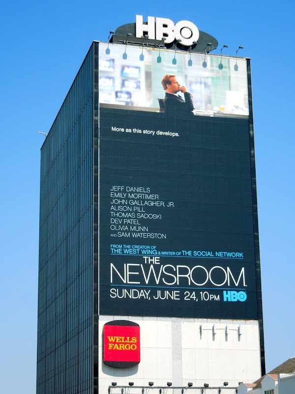 Giant Newsroom HBO billboard