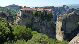 Vistas desde el Monasterio de la Transfiguración o Gran Meteoro.