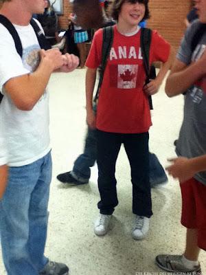 Peinlicher Kanadischer Teenager lustiges Bild Urlaub
