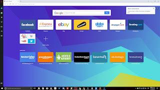 Nueva pestaña de Opera Browser en Windows 10