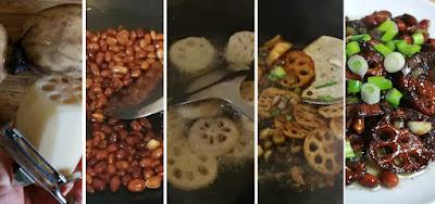 Zubereitung Sichuanmäßig gewürzte Lotoswurzeln - 宫保藕片 (Gōngbǎo Ǒupiàn)