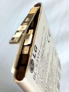 Bateria LG G3 Armadilha Lingueta de metal