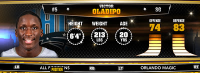 NBA 2K13 Magic Victor Oladipo - Round 1 Pick 2nd Overall