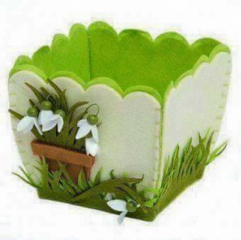 Ide membuat kerajinan menggunakan foam berbentuk tas bunga 3