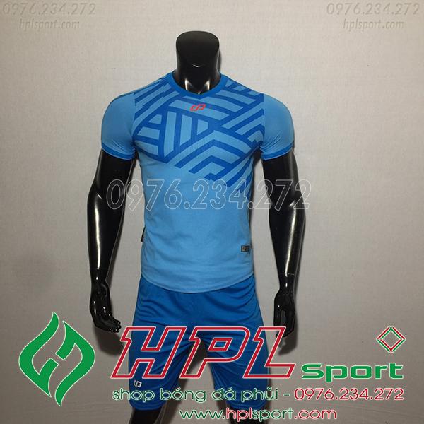Áo bóng đá không logo CP Asno màu xanh