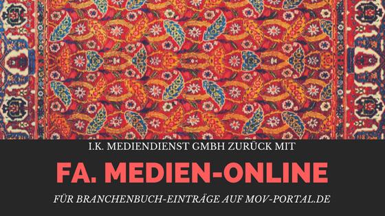 """Beitragsbild: I.K. Mediendienst GmbH zurück mit """"Fa. Medien-Online"""" / mov-portal.de"""