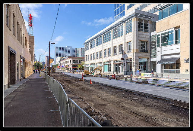 Nicollet Mall under construction in Minneapolis, MN