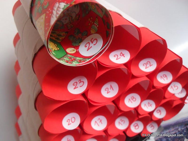 Filo so pia albero avvento con i rotoli di carta igienica 2 - Albero porta carta igienica ...