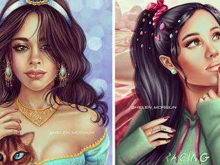 Artista decidiu transformar suas celebridades favoritas em princesas da Disney