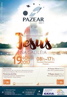 """Seminário Pazear ano 11, com o tema """"Caminhando com Jesus na Galileia"""""""