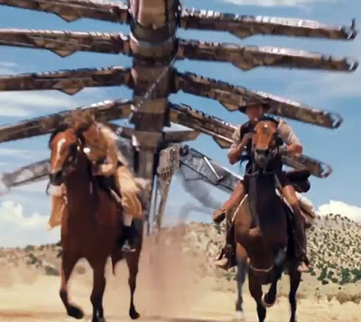 UFO On Attack Cowboys and Aliens