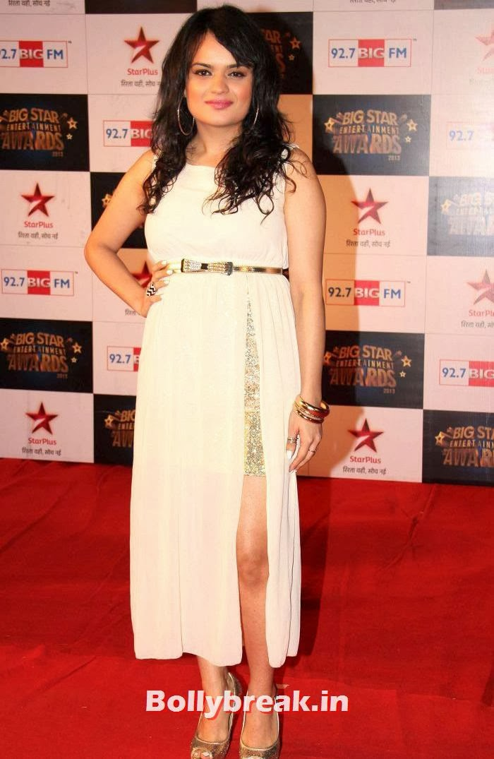 Aditi Singh Sharma, Tv babes Sizzle on Big Star Entertainment Awards 2013 Red Carpet
