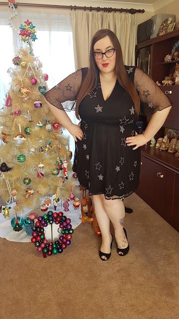 plus size beaded star dress