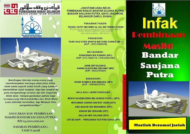 Senarai Jawatankuasa Masjid Bandar Saujana Putra