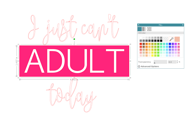 fill shape with color silhouette studio design text in silhouette cameo 3