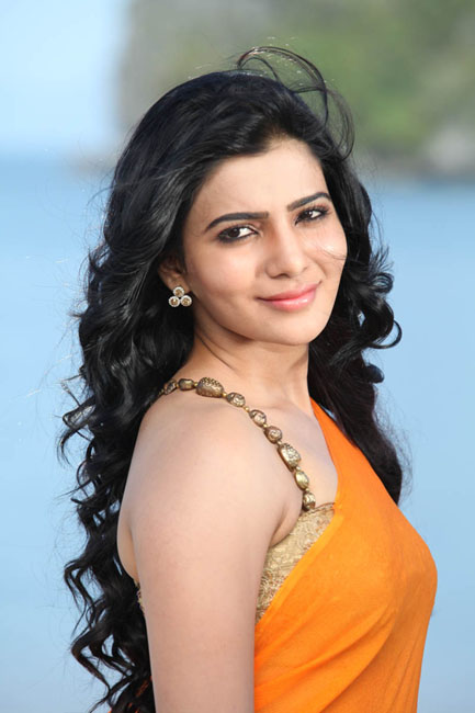Samantha Hot Stills In Orange Saree Tollywood Stars