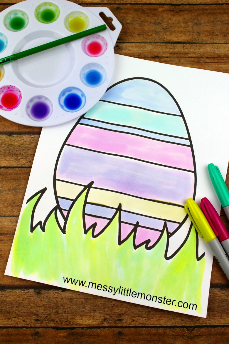 Free printable Easter egg colouring pages. There are 3 simple Easter egg designs for you to download and print.  These colouring sheets are great for toddlers, preschoolers and big kids too!