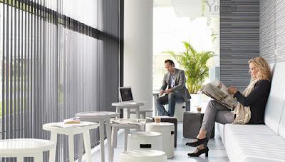 Rèm lá dọc, rèm lật cửa sổ văn phòng cản sáng chống nắng