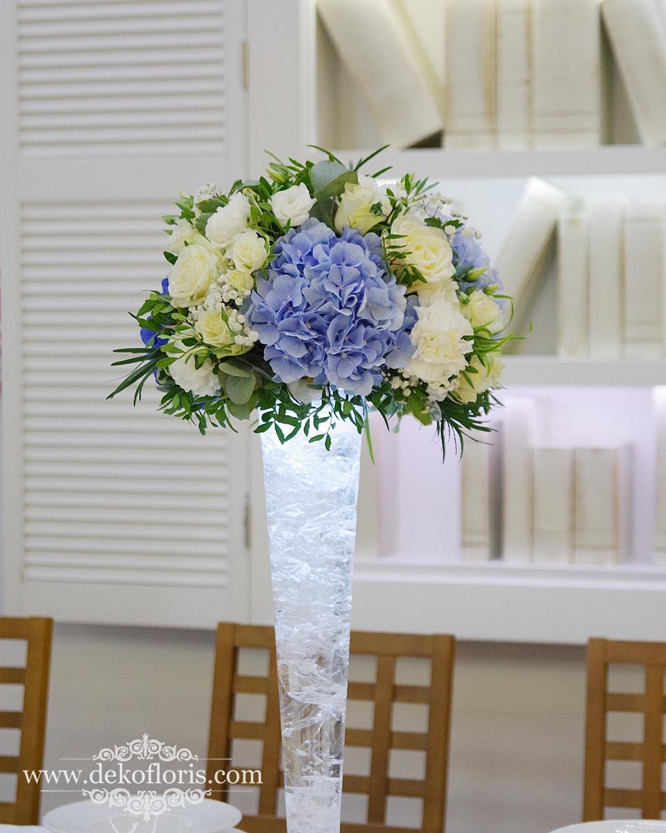 Niebieska dekoracja wesela - Raszowa opolskie