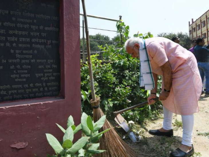 swachhata-hi-seva-movement-narendra-modi-talks-to-amitabh-bachchan-and-rata sanata news