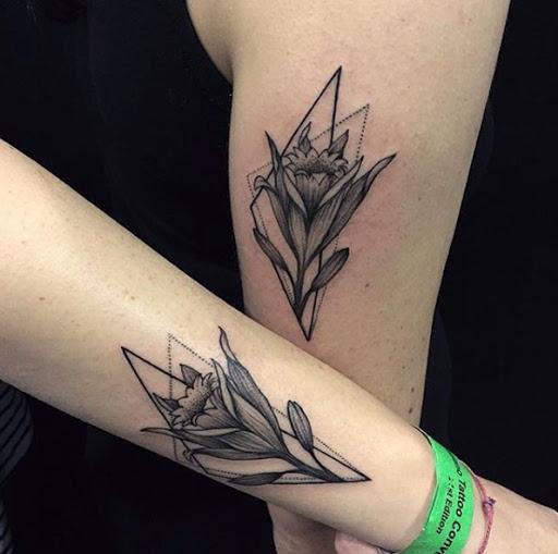 Estes florais amizade tatuagens