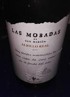 Las Moradas albillo Real 2015. D.o Vinos de Madrid. Sibaritastur