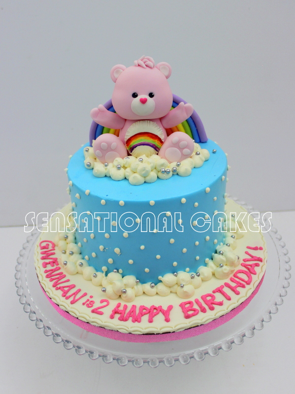 Cakes2share Singapore Pink Care Bears Sugar 3d Cake Singapore