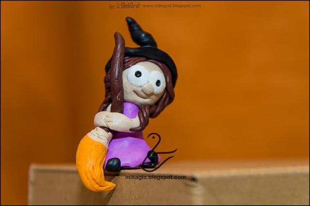 412. Czarownica z modeliny / Polymer clay witch