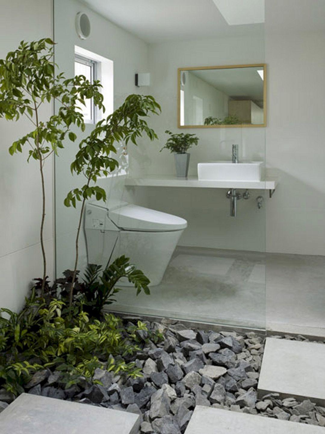 12 Banos Modernos Con Jardin Interior Ideas Para Banos Pequenos Grandes O Medianos Zen Ambient