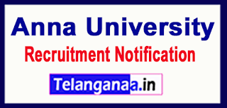 Anna University Recruitment Notification 2017 Last Date 19-06-2017