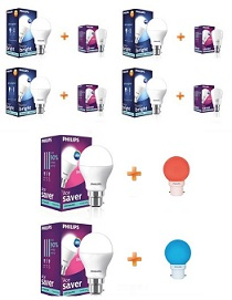 Philips LED Bulbs Combos – Get 30% Extra discount + Free 0.5 Watt LED Bulb @ Nearbuy