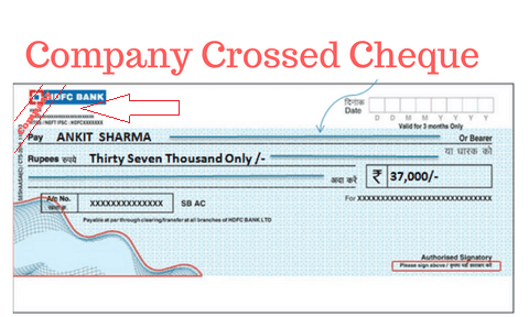 COMPANY CROSSED CHEQUES
