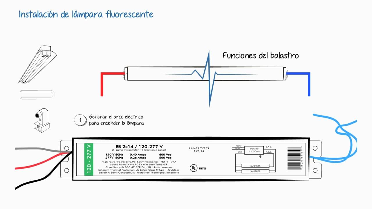 Instalaciones eléctricas residenciales - Arco eléctrico para encendido de lámpara fluorescente