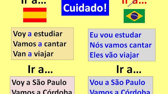 """¿Cuándo se usa con preposición el verbo """"IR"""" en portugués?"""