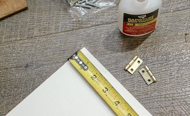 attaching hinges to locker doors, IKEA, IKEA hack, storage