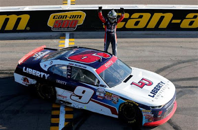 For the fourth time this season, William Byron brought home the NASCAR Xfinity Series race victory on Saturday afternoon in the Ticket Galaxy 200.