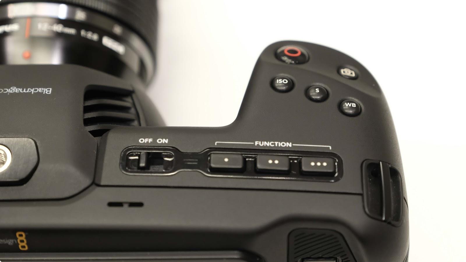 Функциональные кнопки Blackmagic Pocket Cinema Camera 4K