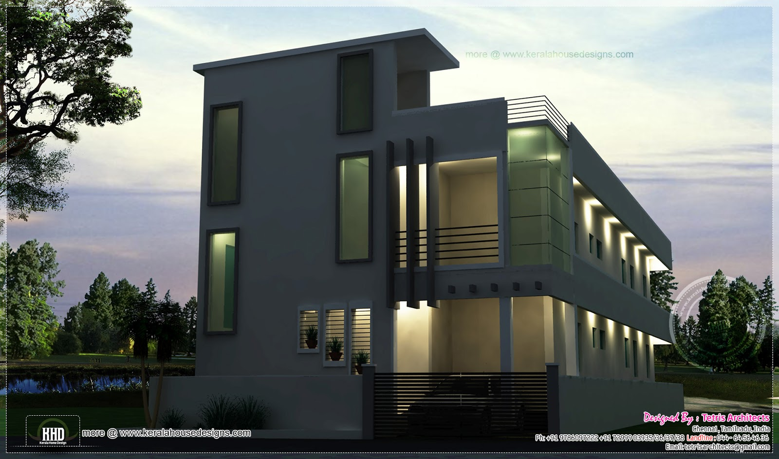 G 1 residential structure at kanchipuram tamilnadu for Contemporary building elevation