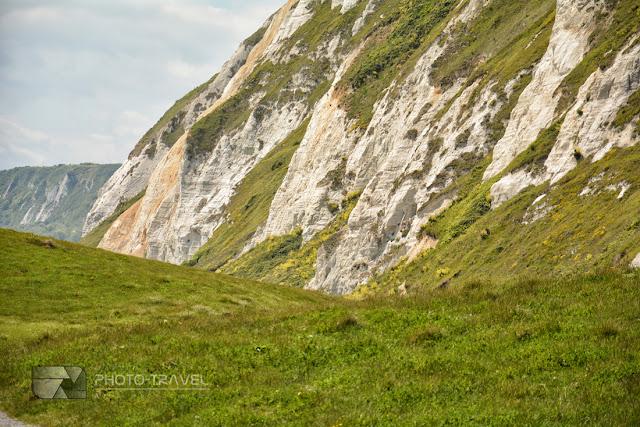 Białe klify Samphire Hoe w Anglii - top atrakcja turystyczna Anglii