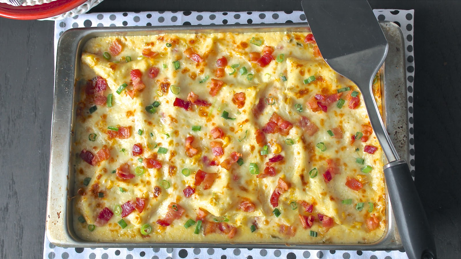 Creamed Corn and Bacon Lasagna