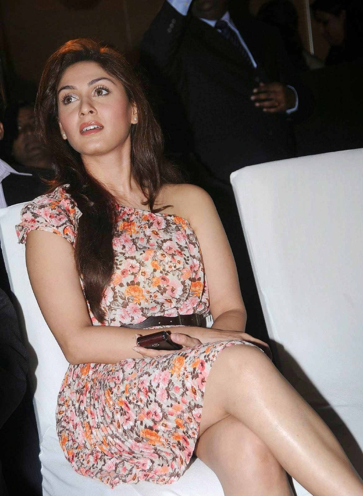 , Manjari Phadnis Sitting on Chair at events in Short Dress