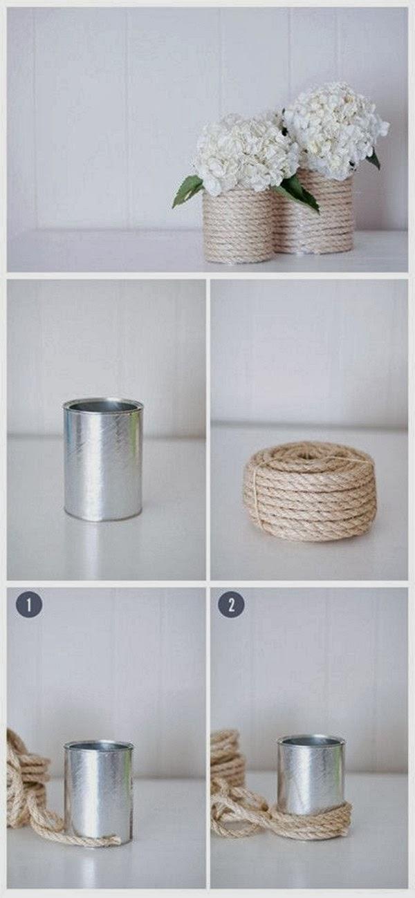 Cachepôs feitos com reciclagem - Tutorial