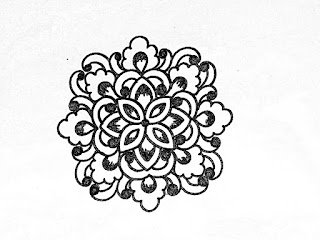 Hand embroidery design -12 | How to draw an easy flower design for hand embroidery