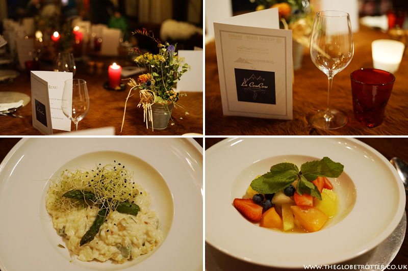 Dinner at Le Coucou restaurant