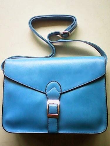 Bolso satchel azul