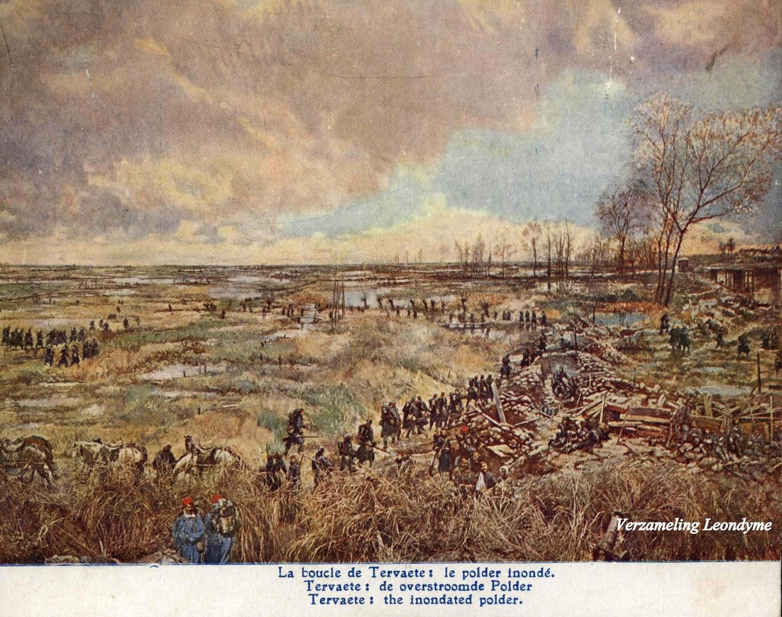 Slag van IJzer door Alfred Bastien.  Tervaete: overstroomde Poldervlakte. Verzameling Leondyme