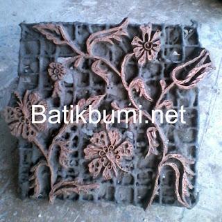 Canting batik cap motif bunga