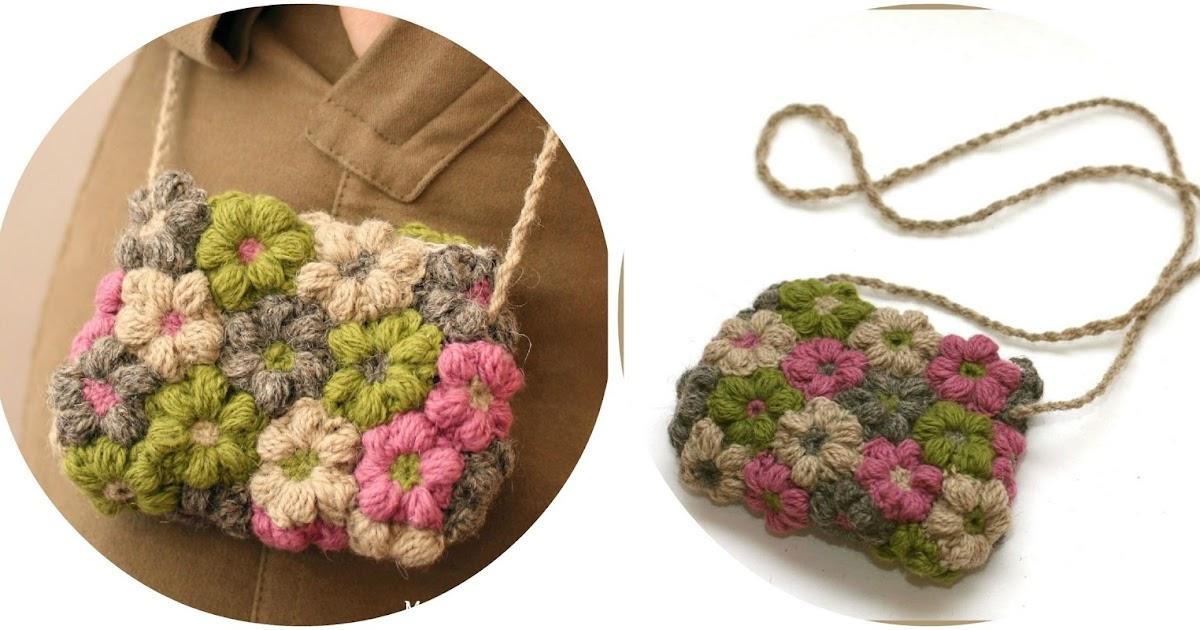 Como hacer un bolso con tela y flores de crochet enrhedando - Como hacer un cabecero de tela ...
