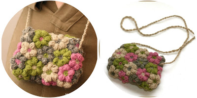 Como hacer un Bolso con Tela y Flores de Crochet